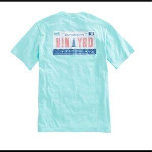 Vineyard Vines License Plate Logo Shirt Sz XL